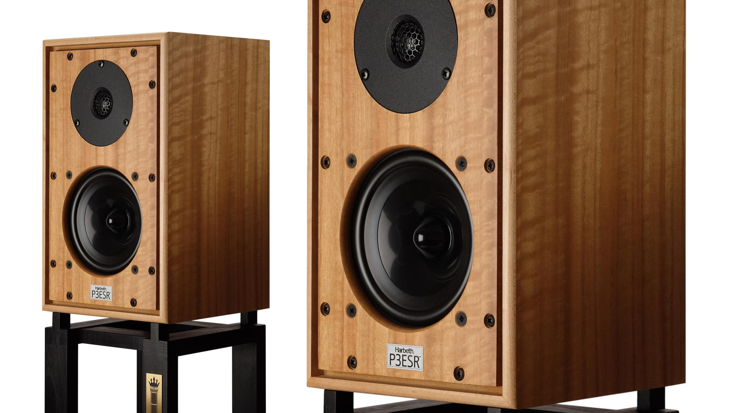 Harbeth loudspeakers on stands
